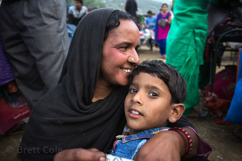 Mother and son in Kullu, India