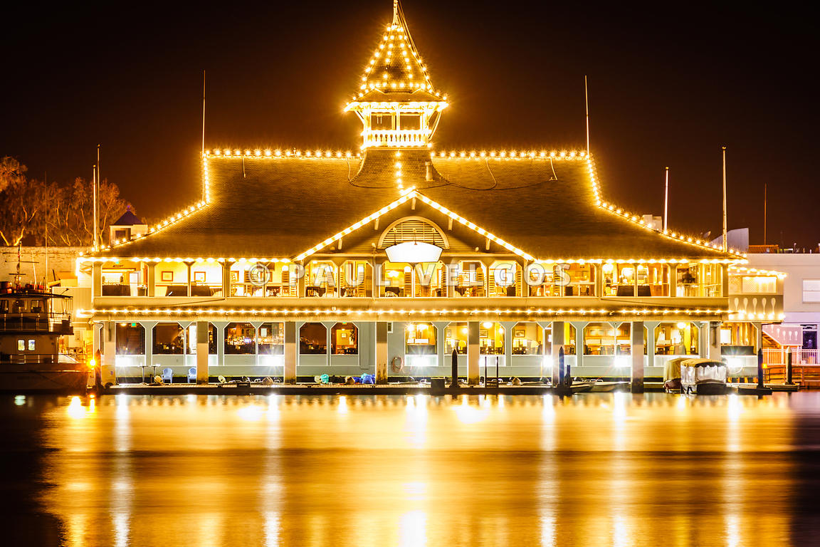 Newport Beach Balboa Pavilion at Night Picture