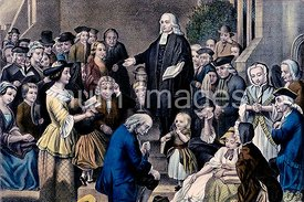 John Wesley preaching on his fathers grave in the church yard at Epworth Sunday June 6th 1742