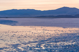 Twilight on the Bonneville Salt Flats