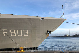 The bow of HNLMS Tromp (F803)