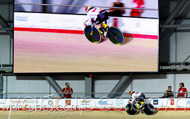 Women's Sprint Qualification, Track Day 3, Toronto 2015 Pan Am Games, Milton Pan Am/Parapan Am Velodrome, Milton, On; July 18...
