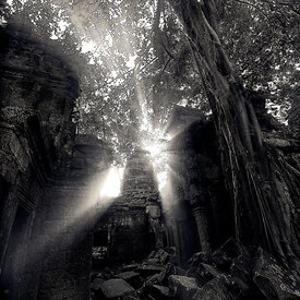 """Sunset over Ta Prohm -1"""