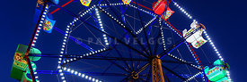 Newport Balboa Fun Zone Ferris Wheel Panorama Photo