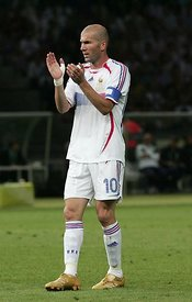 Zinedine Zidane a red card during the World Cup 2006 final in Berlin.