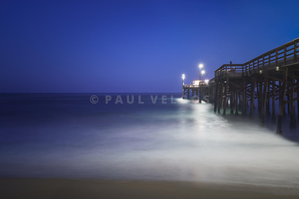 Newport Beach Balboa Pier at Night Photo