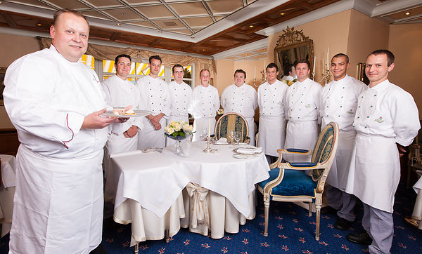 Claus-Peter Lumpp's team at the Bareiss restaurant