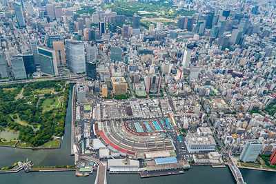 Tokyo Cityscape Japan and Seafood Market
