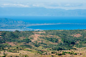 View of lake Malawi down the escarpment from Livingstonia, Malawi