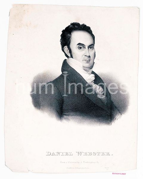 Daniel Webster. From a painting by J. Frothingham Jr