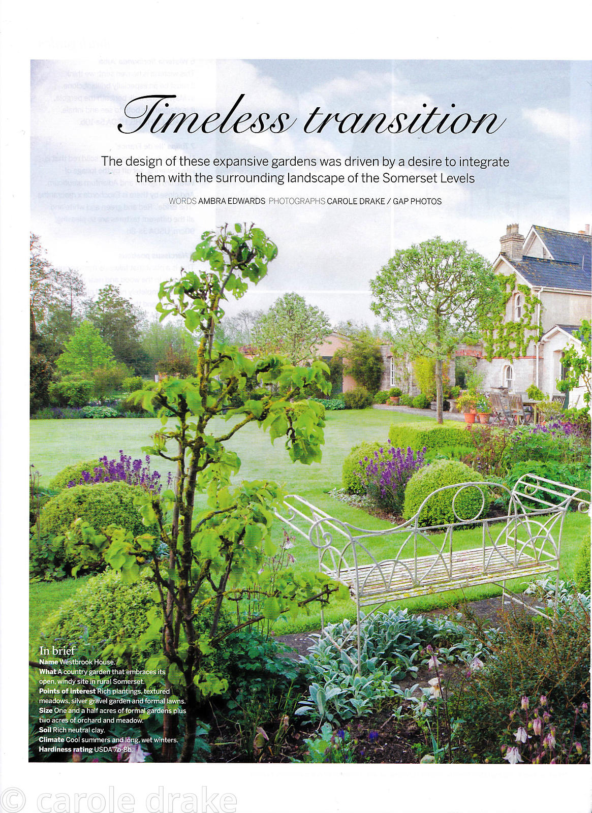 Westbrook House, Gardens Illustrated, May 2015