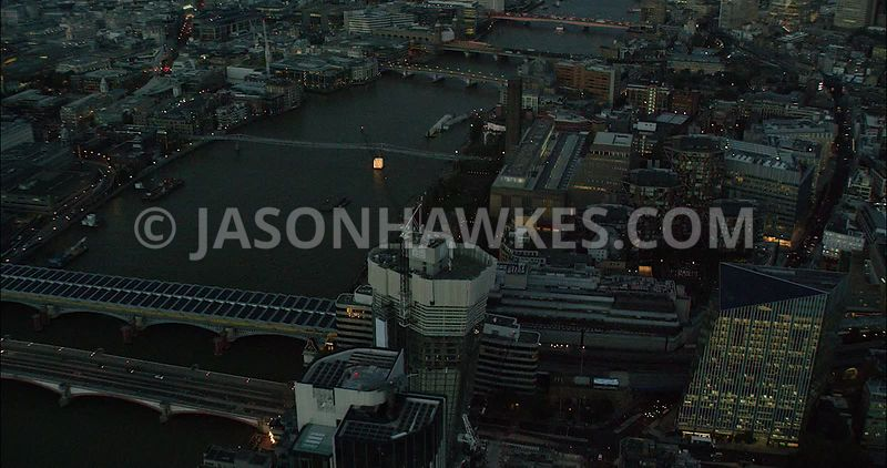 London Aerial Footage of 1 Blackfriars Road under construction.