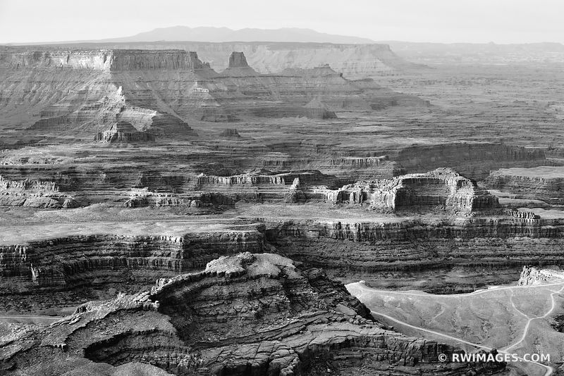 SUNRISE DEAD HORSE POINT STATE PARK UTAH CANYONLANDS NATIONAL PARK UTAH BLACK AND WHITE AMERICAN SOUTHWEST LANDSCAPE