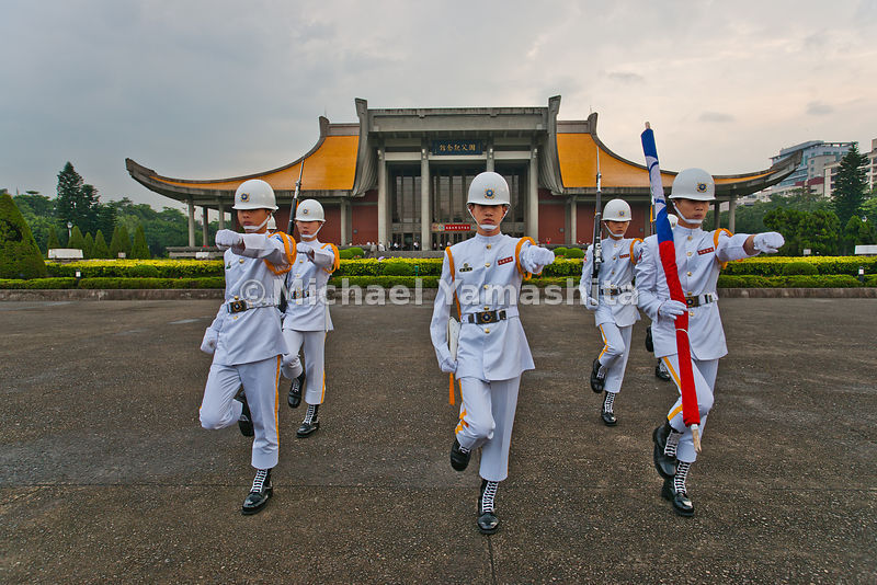 Pics of dawn flag raising at Sun Yat Sen Memorial