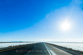 Crossing the Bonneville Salt Flats on I-80 Eastbound