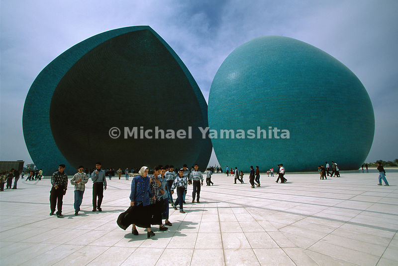 "Baghdad is still a ""city of domes"" and not all adorn mosques. The giant turquoise double domes of the Al Shaheed monument, was constructed in 1983 to commemorate fallen soldiers."