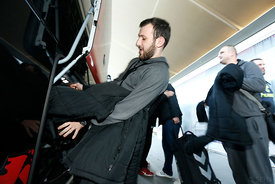 Ilija ABUTOVIĆ of Vardar during the Final Tournament - Final Four - SEHA - Gazprom league, team arrival in Varazdin, Croatia,...