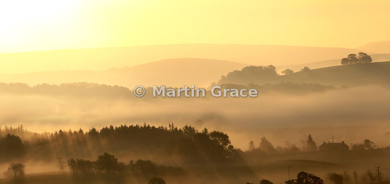Lyth Valley mist at sunrise, October 11, Cumbria, England