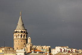 Galata Tower and the Golden Horn viewed from Eminönü, Istanbul.