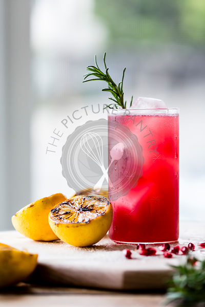Pomegranate and rosemary cocktail