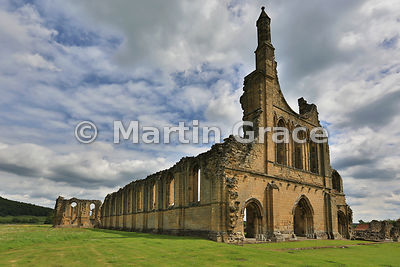 Byland Abbey (1155-1195) from the north-west, North Yorkshire, England