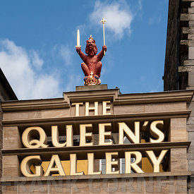 Sign above entrance to the Queen's Gallery Edinburgh