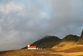 The Vik i Myrdal Church in Vik, Iceland.
