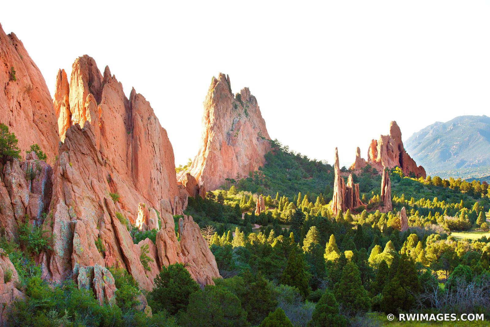GARDEN OF THE GODS COLORADO SPRINGS COLORADO COLOR LANDSCAPE