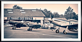 Corsair,Spitfire and Mustang @ Le Touquet Airport