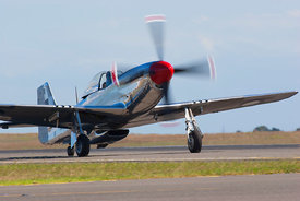 P51 Mustang taxiing