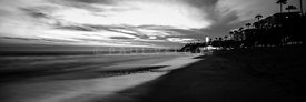 San Clemente California Black and White Panorama Photo