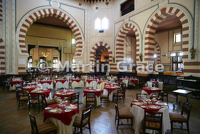 Dining Room of the Old Cataract Hotel, Aswan, Egypt