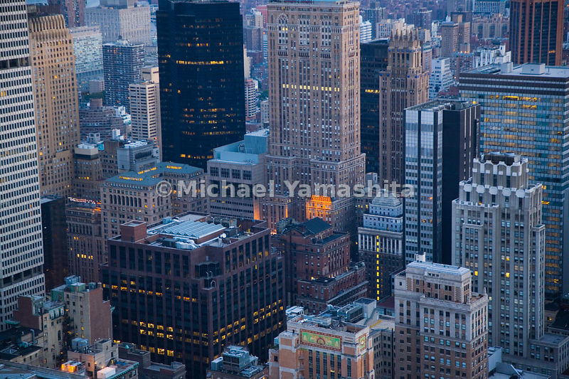 42nd St has some of New York's most distinctive architecture: (from left to right) the Brutalist MetLife Building, the Art De...