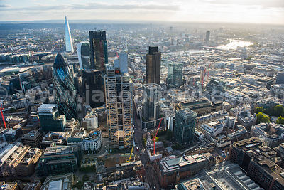 Aerial view of Heron Tower, City of London