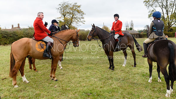 Michael Dungworth, Tom Kingston at Belvoir Hunt Opening Meet 2018
