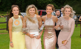 Liberty Rimmer, Amber Hoskins, Boogie Machin, Abbie Weatherstone. The Belvoir Hunt Midsummer Madness Ball 2017