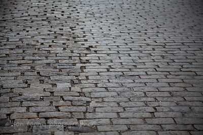 Cobbled street in Manhattan, NY