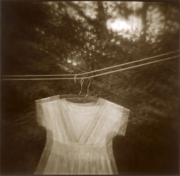 child's dress on clothes line