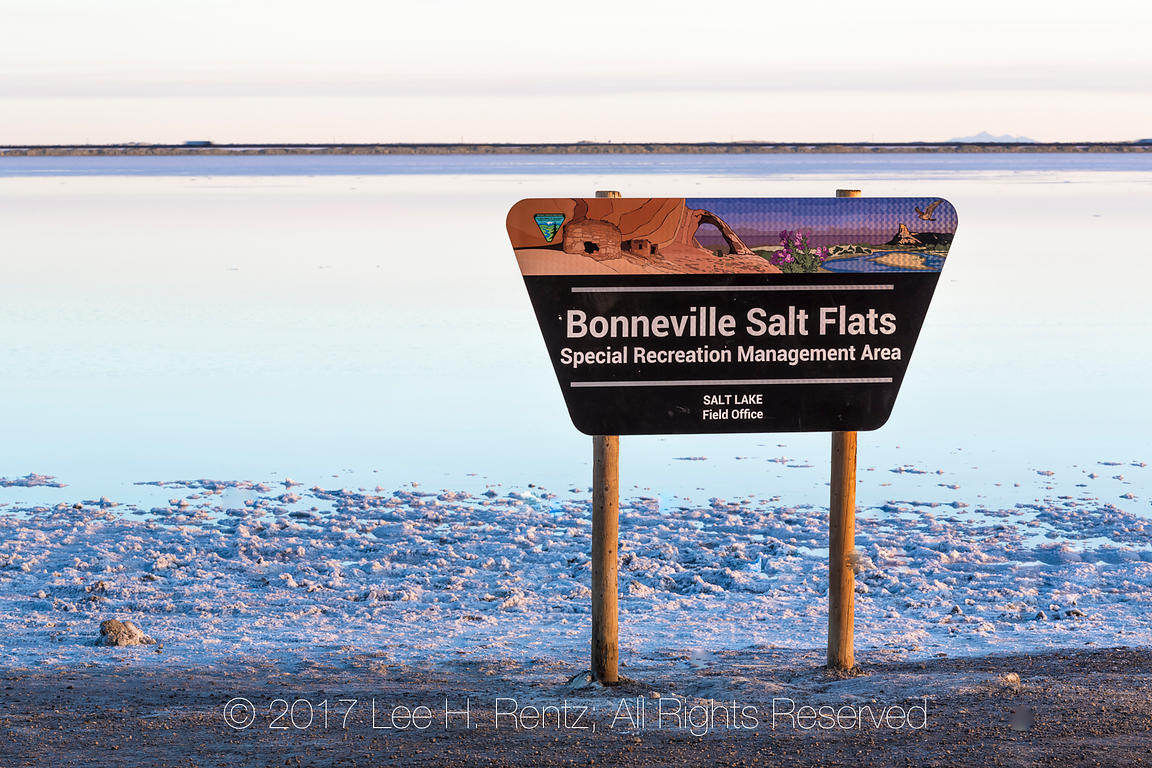 Bonneville Salt Flats Special Recreation Management Area BLM Sign