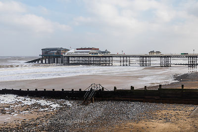 Cromer beach and pier on a winter's day