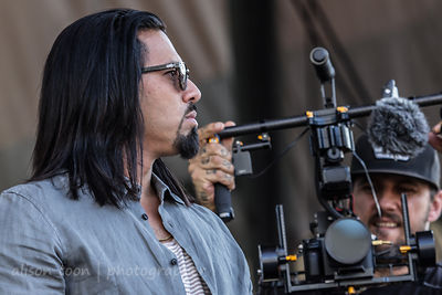 Leigh Kakaty, vocals, Pop Evil, and video cameraman