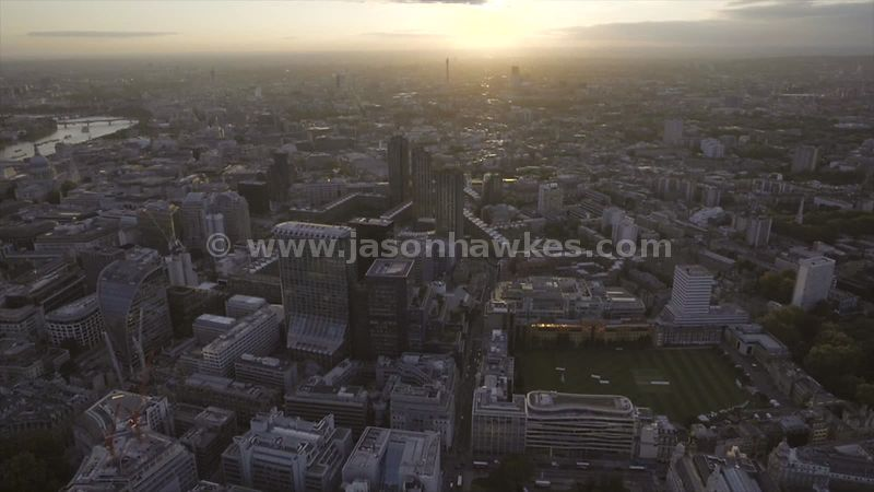 Aerial footage of Barbican, London