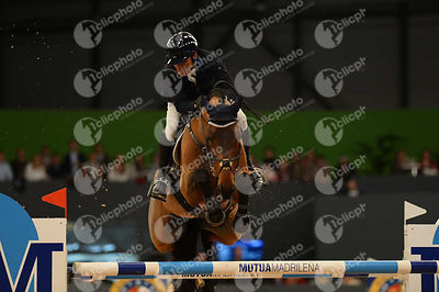 LOPEZ Carlos, (COL), Prince de la Mare  during CSI5-W_1,60_Longines World Cup Grand Prix competition at Madrid Horse Week at ...