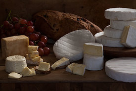 Styled commercial photo shoot for fresh cheese producer by Sonoma photographer Jason Tinacci