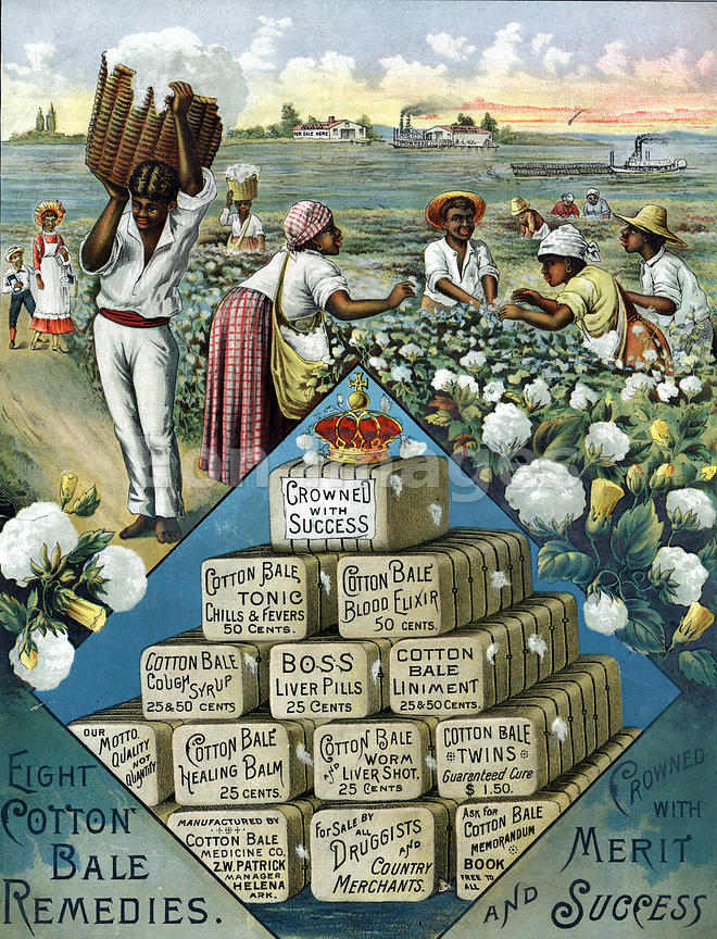 1800s ad for Cotton Bale Medicine Company