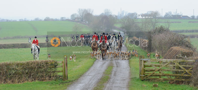 The Belvoir Hunt at Sheepwash 31/12