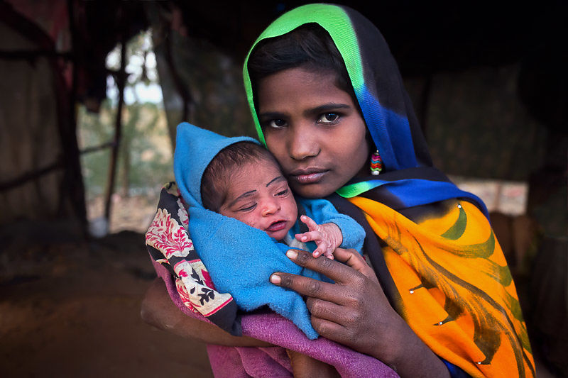 We help Seema, who was premature. with nutrition and medical care
