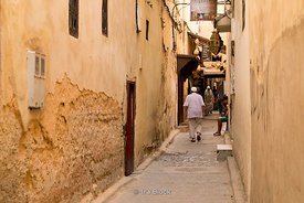 Street scenes of the Medina in Fes, Morocco.