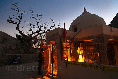 "Dusk at the 7th century Ajaypal temple site (Shiva temple), near Pushkar, Rajasthan, India. Taken on the ""Black Moon"" or ""Shi..."
