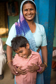 Santosh Devi, 38 after her cataract surgery